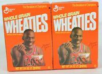 Michael Jordan 2 Unopened Wheaties Box of Cereal 3/4oz 21 Grams Series #27 NBA