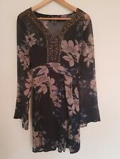 c2858980a36 Long Tall Sally gorgeous blue sheer floral dress size 14
