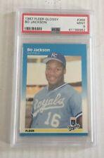 1987 fleer glossy #369 BO JACKSON RC PSA 9 Mint