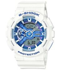 Casio G-Shock * GA110WB-7A White with Blue Anadigi Watch COD PayPal