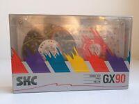SKC GX 90 RARE BLANK AUDIO CASSETTE TAPE NEW 1990 YEAR KOREA MADE