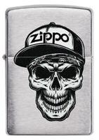 ZIPPO - BENZIN - FEUERZEUG - Skull in Cap Design - ZUBEHÖR NACH WAHL - 60004412