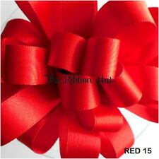 3mm Berisfords Double Satin Ribbon 31 Colours 3 Lengths Red #15 5mm X 5mtr