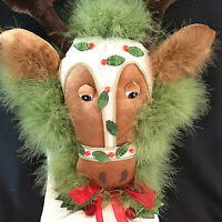Krinkles Dept 56 Patience Brewster Reindeer Christmas Stocking 2007 Retired