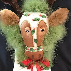 Krinkles Dept 56 Patience Brewster Reindeer Christmas Stocking 2007 Retired