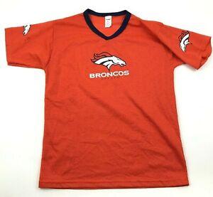 Franklin Denver Broncos Football Jersey Size Large L Orange Short Sleeve V-Neck