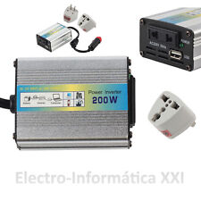 Transformateur Convertisseur courant 200W 12V-220V Chargeur allume-cigare