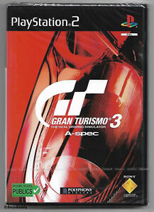 PS2 Gran Turismo 3 A-Spec, UK PAL Original French Version, Sony Factory Sealed