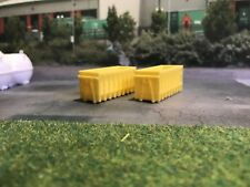 3d Printed Skip (Yellow) Would Suit 1:148 Scale N Gauge 2 Pkt