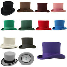 Ferrecci Classic Wool Elegant English MAD Hatter Lined Top Hat - Many Colors ae9eb3bd74bf