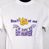 Elks Lodge T Shirt Vintage 80s 90s Elks Volunteer Made In USA White Size Large