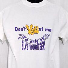 Elks Lodge Mens T Shirt Vtg 80s 90s Elks Volunteer Made In USA White Size Large
