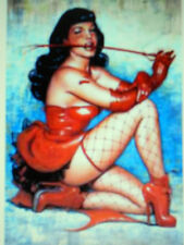 "BETTIE PAGE IN RED  WITH WHIP PINUP PICTURE POSTER 24"" X 36"" NEW"