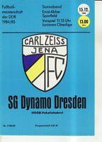 OL 84/85 FC Carl Zeiss Jena - SG Dynamo Dresden, 15.12.1984