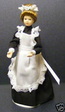 1:12 Scale Maid In A Black Dress Tumdee Dolls House Miniature People Accessory