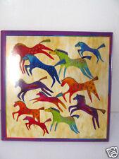 Laurel Burch Beige Native Horses Equestrian Glossy Referigerator Magnets New