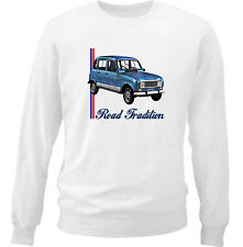 RENAULT 4L INSPIRED - COTTON WHITE SWEATSHIRT ALL SIZES IN STOCK