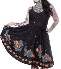 sourpuss Halloween cat dress with pockets pinup ntw xl medium