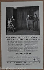 1919 EDISON PHONOGRAPH advertisement, Opera singers, Guido Ciccolini