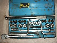 Hazet RATCHET & SOCKET SET  vintage set 1/2 SQUARE 900Z METRIC MADE IN GERMANY.