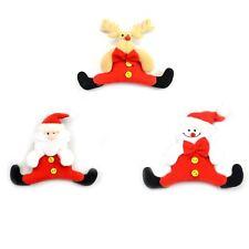 3 Soft Teddy Novelty Christmas Tree Hanging Decorations Xmas Decoration 6119