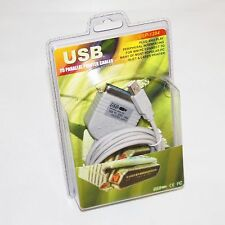 Professional USB 2 IEEE-1284 Parallel Printer Cable Bi-directional Data Transfer