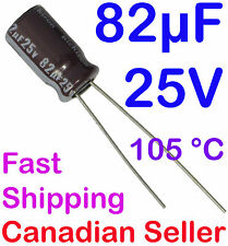 2pcs 82uF 25V 6.3x11mm105C Nichicon PM Extremely Low Impedanc For TV PSU LCD PC