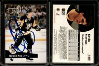 Kevin Stevens #185 signed autograph auto 1991-92 Pro Set Hockey Trading Card