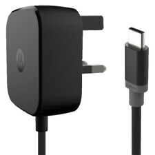Genuine Motorola Turbo Fast Mains 15w Charger Adapter With Type-c USB Data Lead