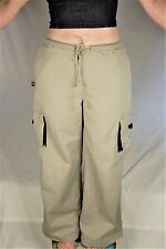 Vintage 90s Bug Girl Wide Leg Pants Cotton Khaki Size S Punk Rave Kikwear Style