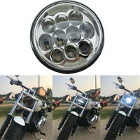 5-3/4 5.75'' inch Osram LED Headlight Projector Headlamp for motorcycle Chrome