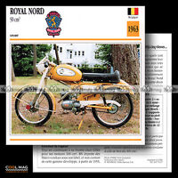 #070.17 Cyclo Sport ROYAL NORD 50 SUPERSPORT 1963 Fiche Moto Motorcycle Card