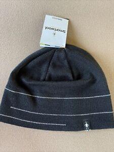 SmartWool The Lid Men's Beanie Merino Wool Blend Hat W/ Linear For Warmth Black