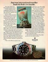 Original Advertising' Advertising Rolex Watch Gmt-Master Thor Heyerdahl Tigris