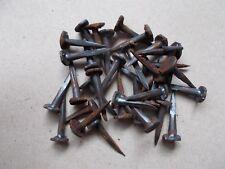 30  anciens clous en fer forgé  tête ronde 18 mm