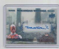 Marvel Black Panther Autograph Trading Card WW-AY Florence Kasumba as Ayo (B)