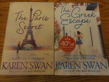 Great Set of 3 KAREN SWAN Books THE PARIS SECRET GREEK ESCAPE CHRISTMAS TIFFANYS