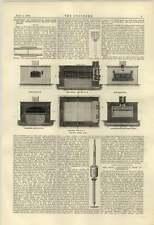 1884 Perkins VAPORE FORNO per pasticceria Isler TUBO Wells