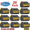 20X For DeWalt 20 Volt Max XR 6.0AH Lithium Ion Battery DCB200-2 DCB206-2 DCB205