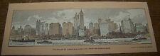 c1911 ANTIQUE SKYLINE OF NEW YORK CITY MANHATTEN EDWIN MEEKER BOOKMARK HUDSON RV