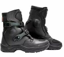 Richa Colt Short Adventure Waterproof Motorcycle Motorbike Boots - Black - UK