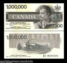 CANADA 1000000 Million 1991 x 100 Pcs Lot RAILROAD UNC Bundle B A BANK NOTE