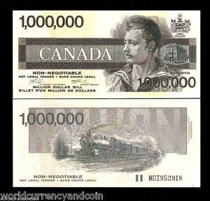 CANADA 1000000 Million 1991 x 100 Pcs Lot RAILROAD UNC Bundle B A BANK NOTE