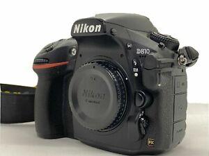 O296 Nikon D810 Full Frame DSLR Camera - Body Only - Black - Excellent Condition