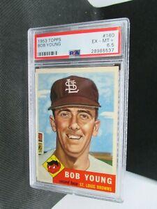 1953 TOPPS #160 BOB YOUNG  PSA 6.5