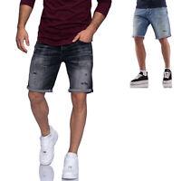 Jack & Jones Herren Jeans Shorts Bermudas Used Look Herrenjeans 3/4 Hose