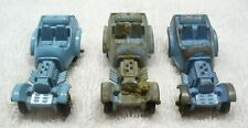 Three Vintage TOOTSIETOY Diecast Blue Hot Rod Roadster Coupe-USA