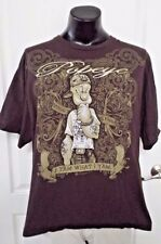 Popeye Strong To The Finish I Y'am What I Y'am Bling Tattoos Brown T-Shirt 2XL