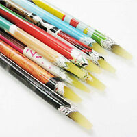 Rhine stones Picker Pencil Nail Art Gem Crystal Pick Up Tool Wax Pen Long 3C BDA