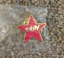 eBay Red & Gold Star 1000 FB Award Enamel Lapel Pin